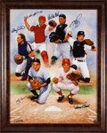 Baseball Collectibles:Others, 2000 Legendary Catchers Signed Giclee from The Gary Carter Collection.. ...
