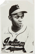 Baseball Collectibles:Others, 1948 Satchel Paige Signed Postcard. ...