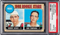Baseball Cards:Singles (1960-1969), 1968 Topps Johnny Bench - Reds Rookies #247 PSA Gem MT 10! ...
