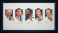 "Basketball Collectibles:Others, 2000's Red Auerbach, Bill Russell, John Havlicek, Bob Cousy & Tom Heinsohn Multi Signed ""Legacy I"" Lithograph...."