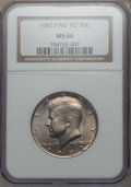 Kennedy Half Dollars, 1982-P 50C No FG, FS-901, MS66 NGC. PCGS Population: (53/2).Mintage 10,819,000. ...