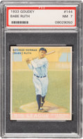 Baseball Cards:Singles (1930-1939), 1933 Goudey Babe Ruth #144 PSA NM 7....