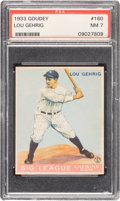 Baseball Cards:Singles (1930-1939), 1933 Goudey Lou Gehrig #160 PSA NM 7....