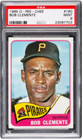Baseball Cards:Singles (1960-1969), 1965 O-Pee-Chee Roberto Clemente #160 PSA Mint 9 - Pop Two, NoneHigher....