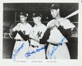 Baseball Collectibles:Photos, 1990's Mickey Mantle, Joe DiMaggio & Ted Williams SignedPhotograph....