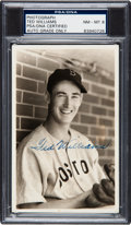 Baseball Collectibles:Photos, 1941 Ted Williams Signed Photograph by George Burke, PSA/DNA NM-MT8....