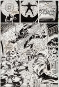 Original Comic Art:Splash Pages, John Buscema and Scott Koblish Doom 2099 #40 Splash Page 7(Marvel 1996)....