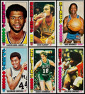 Basketball Cards:Lots, 1976 Topps Basketball Collection (92)....