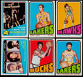 Basketball Cards:Lots, 1972 Topps Basketball Collection (206)....