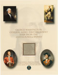 Political:Presidential Relics, George Washington: Five Strands of his Hair....