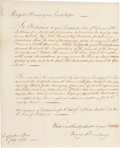 """Miscellaneous:Ephemera, Handwritten July 8, 1776 Petition Dealing with Provisions """"...for3000 of his majesty's forces serving under Genl. Howe in Nor..."""