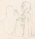 Animation Art:Production Drawing, Snow White and Seven Dwarfs Snow White Animation Drawing(Walt Disney, 1937). ...