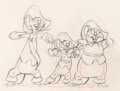 Animation Art:Production Drawing, Three Blind Mousketeers Animation Drawing (Walt Disney,1936)....