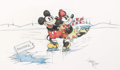 Animation Art:Production Drawing, Virgil Ross - Mickey Mouse and Minnie Mouse Illustration (WaltDisney, c. 1990s)....
