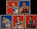 Basketball Cards:Lots, 1948 Bowman Basketball Collection (5)....