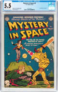 Golden Age (1938-1955):Science Fiction, Mystery in Space #8 (DC, 1952) CGC FN- 5.5 Off-white to whitepages....