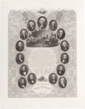 Antiques:Posters & Prints, Declaration of Independence: Graphic Presidential Engraving byIllman....