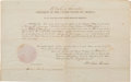 Autographs:U.S. Presidents, Abraham Lincoln: Signed Postmaster Appointment....