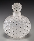 Art Glass:Lalique, R. Lalique Frosted Glass and Enamel Cactus Perfume. Circa1943. Stenciled R, LALIQUE, FRANCE. M p. 348, No. 63...