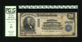 National Bank Notes:Missouri, Kansas City, MO - $20 1902 Plain Back Fr. 653 The Liberty NB Ch. #10039. The signatures were stamped low and have since...