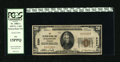 National Bank Notes:Nebraska, Fullerton, NE - $20 1929 Ty. 1 The Fullerton NB Ch. # 5384. A.G. Arrasmith and J.M. Brower managed this bank. PCGS Fin...