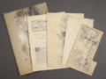 Military & Patriotic:Civil War, FOUR FRANK H. SCHELL PEN & INK DRAWINGS AT ANTIETAM, 1862.... (Total: 5 Items)