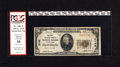National Bank Notes:Pennsylvania, McKees Rocks, PA - $20 1929 Ty. 1 The First NB Ch. # 5142. This solid note is knocked by a red holder from PCGS for ink...