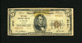 National Bank Notes:Virginia, Galax, VA - $5 1929 Ty. 2 The First NB Ch. # 8791. This note is oneof only seven listed. An old tape repair has given ...