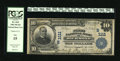 National Bank Notes:Virginia, Richmond, VA - $10 1902 Plain Back Fr. 624 The First NB Ch. #(S)1111. Some moderate wallet staining is noted but confi...