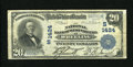 National Bank Notes:West Virginia, Wheeling, WV - $20 1902 Plain Back Fr. 650 The NB of West Virginia Ch. # (S)1424. A.E. Schmidt and W.B. Irvine piloted t...