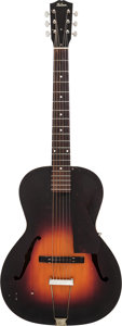 Musical Instruments:Acoustic Guitars, 1937 Gibson L-50 Sunburst Archtop Acoustic Guitar, Serial#1365-11....