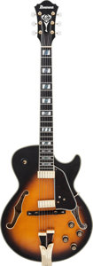 Musical Instruments:Electric Guitars, 2015 Ibanez George Benson GB10SE-BS Prototype Sunburst Semi-HollowBody Electric Guitar, Serial #SS15050002....