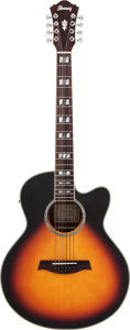 Musical Instruments:Acoustic Guitars, Ibanez George Benson AELH128R-BS-1201 Prototype Sunburst Acoustic Electric Guitar....