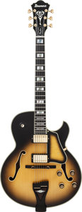 Musical Instruments:Electric Guitars, Ibanez George Benson GB-1 Prototype Sunburst Archtop ElectricGuitar, Serial #F1106505....