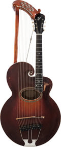 Musical Instruments:Miscellaneous, 1917 Gibson Style U Sunburst Acoustic Harp Guitar, Serial#39406....