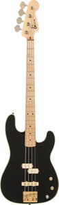 Musical Instruments:Bass Guitars, 1981 Charvel Pre-Pro Black Electric Bass Guitar....