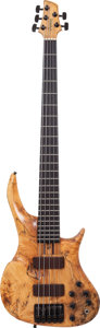 Musical Instruments:Bass Guitars, 2000's Odyssey Cyclops Natural 5-String Electric Bass Guitar....