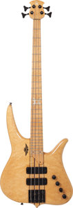 Musical Instruments:Bass Guitars, Circa 2001 Surine Quest Series Natural Electric Bass Guitar, Serial # 01001....
