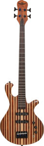 Musical Instruments:Bass Guitars, 2000's Custom Built Drake Copy Natural Electric Bass Guitar, Serial # 071708....