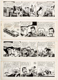 Original Comic Art:Comic Strip Art, Frank Robbins Johnny Hazard Daily Comic Strip Original Art Group of 4 (King Features Syndicate, 1967).... (Total: 4 Original Art)