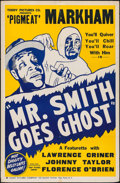 """Movie Posters:Black Films, Mr. Smith Goes Ghost (Toddy Pictures, 1940). One Sheet on Board(27"""" X 41""""). Black Films.. ..."""