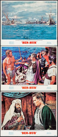 "Movie Posters:Academy Award Winners, Ben-Hur & Others Lot (MGM, R-1969). Lobby Cards (3) (11"" X14""), Color Photos (3), & British Front of House Color Photos(4)... (Total: 10 Items)"