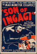 "Movie Posters:Horror, Son of Ingagi (Sack Amusement Enterprises, 1940). One Sheet (28 X41""). Horror.. ..."