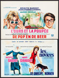 """Movie Posters:Foreign, The Novices & Other Lot (Cinevog, 1970). Belgians (2) (14"""" X 22""""). Foreign.. ... (Total: 2 Items)"""