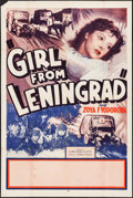 "Movie Posters:War, The Girl from Leningrad (Artkino Pictures, 1941). One Sheet (27"" X41""). War.. ..."