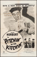 "Movie Posters:Comedy, Pitchin' in the Kitchen (Columbia, 1943). One Sheet (27"" X 41""). Comedy.. ..."