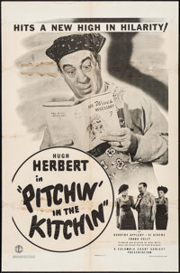 "Pitchin' in the Kitchen (Columbia, 1943). One Sheet (27"" X 41""). Comedy"