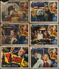 "Movie Posters:Film Noir, T-Men (Reliance, 1947). Title Lobby Card & Lobby Cards (5) (11""X 14""). Film Noir.. ... (Total: 6 Items)"