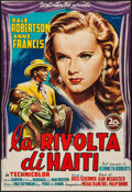 "Movie Posters:Adventure, Lydia Bailey (20th Century Fox, 1952). Trimmed Italian 2 - Fogli(36"" X 53.5""). Adventure.. ..."