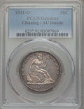 Seated Half Dollars: , 1841-O 50C -- Cleaning -- PCGS Genuine. AU Details. NGC Census: (8/76). PCGS Population: (13/78). CDN: $625 Whsle. Bid for ...